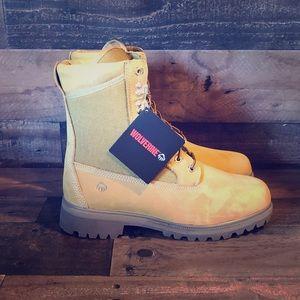 """Wolverine Men's Gold Boot 8"""" NylonPanel GoldNubuck"""